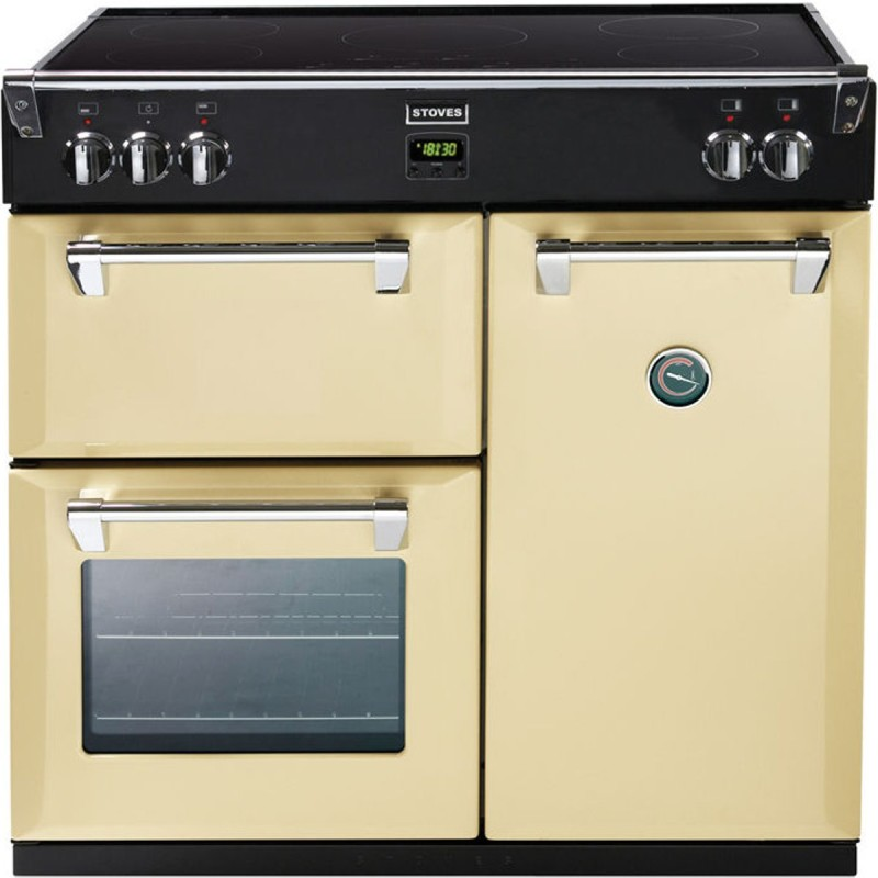 900mm Electric Range Cooker Induction Hob Champagne